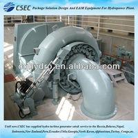Turbina hidráulica con generador y auxiliar para pequeña planta de energía hidroeléctrica -