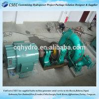 Establece el impacto de la estación de la hidroelectricidad pequeña en generador de turbina de agua -