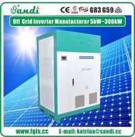 200KW inversor de energía solar de la rejilla 3 inversor de onda sinusoidal pura inversor de fase -