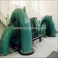 Pequeña turbina de agua vertical/Horizontal / Hydro Power WaterTurbine / 100kw Francis Turbine planta de energía hidroeléctrica -