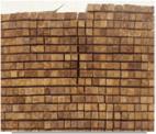 La forma cuadrada de madera de teca