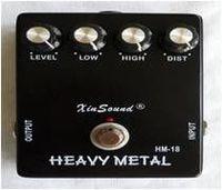 Pedal de distorsión de metales pesados efecto de la guitarra -