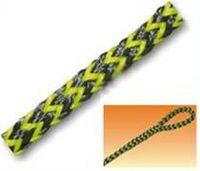 Twisted cuerda de polietileno - Negro / Amarillo -
