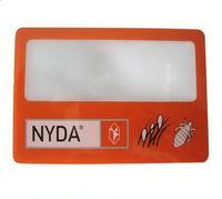 DR018 plástico Tarjeta de visita de la lupa de la tarjeta conocida para los regalos promocionales -